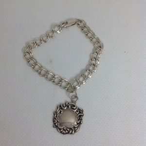 Jewelry - Vintage 925 Sterling Silver Baggage Tag Bracelet